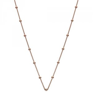 Stříbrný řetízek Hot Diamonds Emozioni Rose Gold Cable with Ball Chain Rose 35