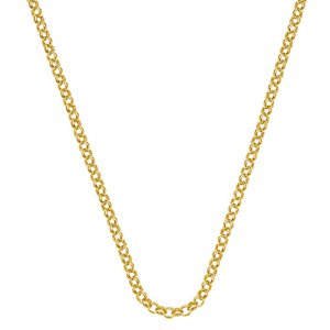 Stříbrný řetízek Hot Diamonds Emozioni Yellow Gold Belcher Chain 18