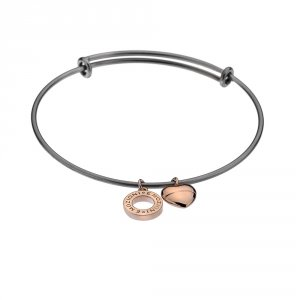 Ocelový náramek Hot Diamonds Emozioni Rose Gold Bangle DC108-128
