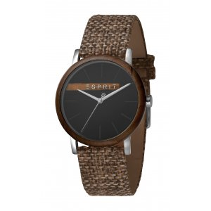 Hodinky ESPRIT Plywood Black Grey Canvas - G